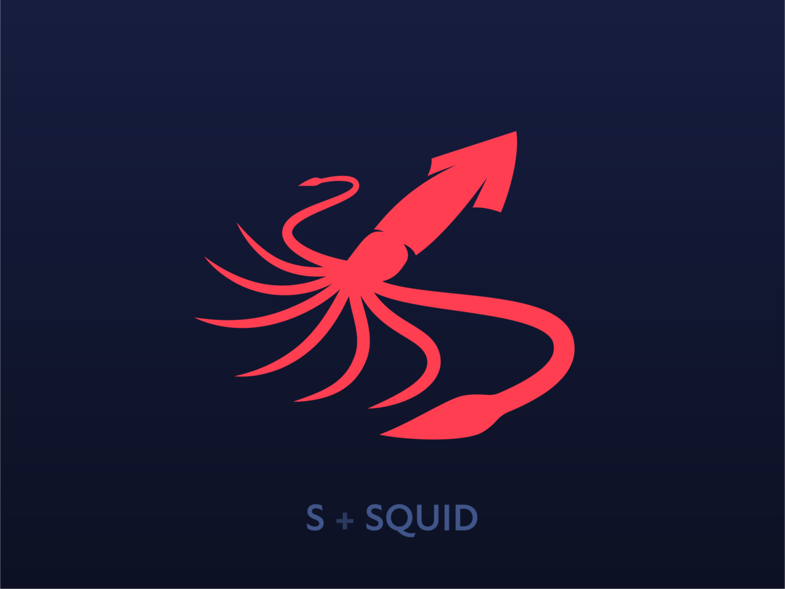 squid logo concept by robert nowland on dribbble squid logo concept by robert nowland on