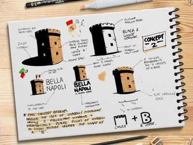 Bella Napoli Logo Sketching