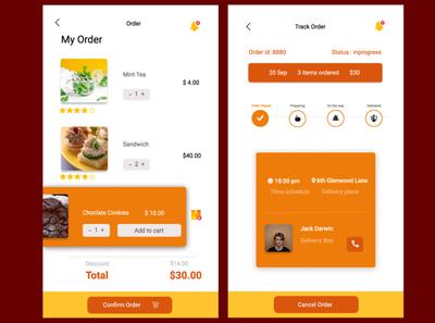 food app order screen uidesigner uxdesigner visual design mobile app design illustrations food app design mobile app illustration art uidesign infographic userexperiencedesign usability design app