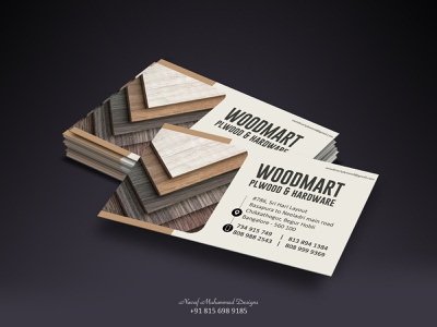 Woodmart Business Card branding graphicdesign design businesscard