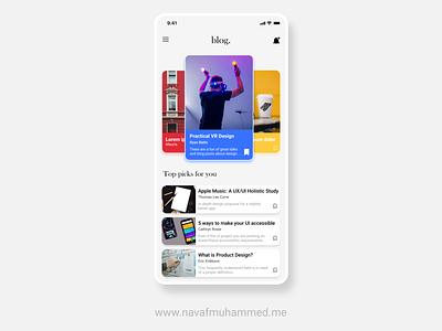 Blog App UI  | 10DDC 10ddc app inspiration figma uiux uidesign