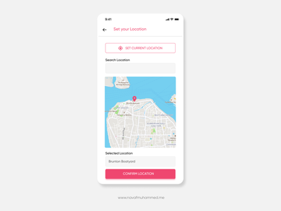 Location Screen Interface  | 10DDC ui design inspiration 10ddc figma ui