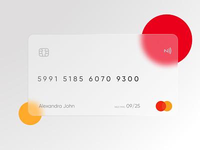 Credit Card Design | Glassmorphism | Navaf Muhammed checkout creditcard frosted glass glassmorphism figma figmadesign