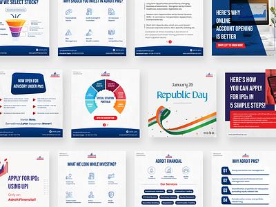 Social Media Graphics | Adroit Financial | Navaf Muhammed branding business finance digitalmarketing instagram post brand identity design graphicdesign socialmedia