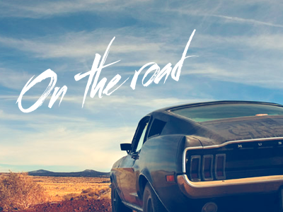 On The Road mustang
