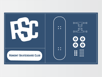 Romont Skateboard Club club skateboard illustrator logo