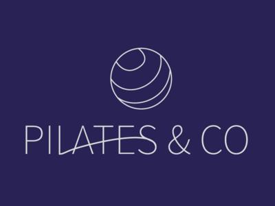 Pilates & Co minimaliste logo pilates