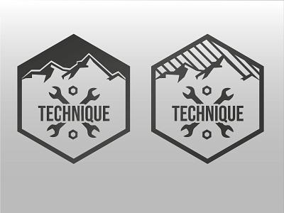 Muntain Staff Technique illustrator vector muntain logo