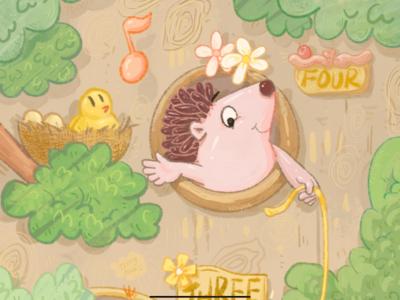 树洞邻居系列插画与大家见面啦