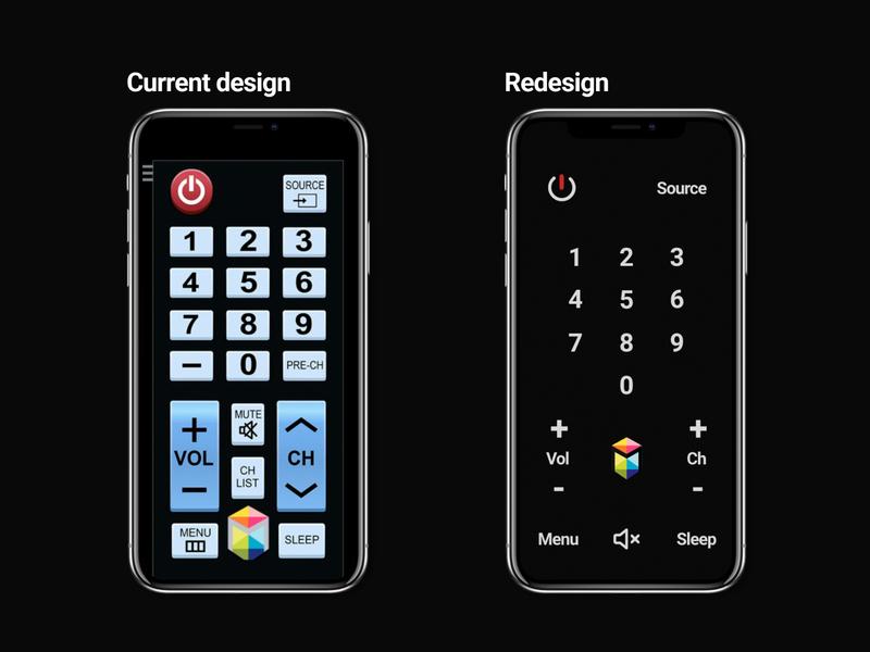 Mobile TV remote tv app tv remote tv redesign product ux mobile app design flat ui minimal dailyui