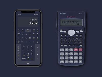 Casio Fx-82MS mobile redesign
