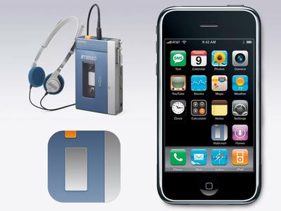 Walkman app icon desogn