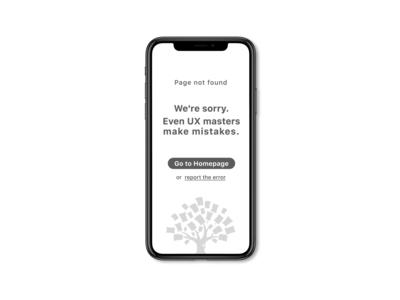 Error 404 page mobile