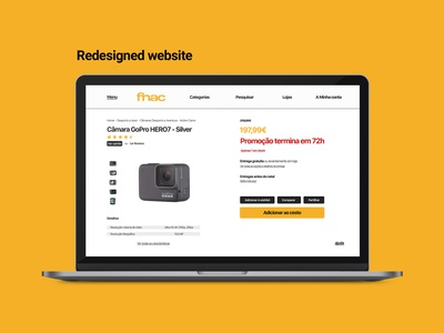 Product page Fnac desktop