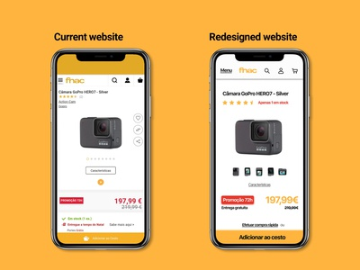 Product page Fnac mobile