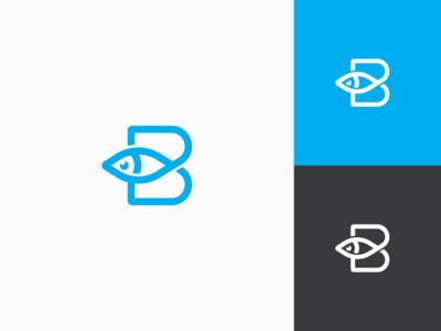 B letter + Fish - Logo changlle #3