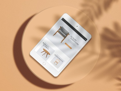 Fictional webdesign for a luxury furniture website