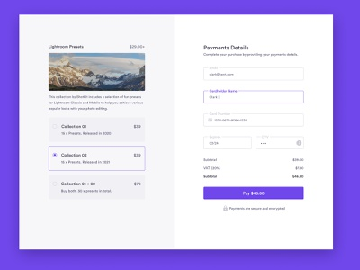 Credit Card Checkout chekout ui ux figma design