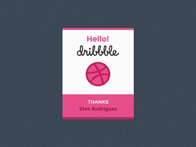 Hello Dribbble! graphic branding designer logo freelance debut dribbble