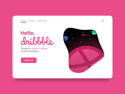 Hello Dribbble! website web ui design hellodribbble