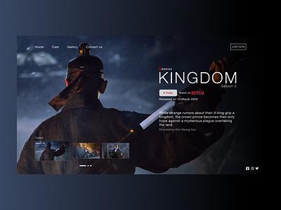 Kingdom Season 2 web netflix kingdom website ui design