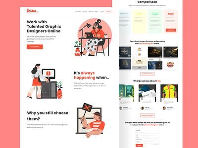 Sribu Landing Page branding website web design ui