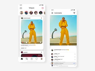 Instagram Redesign redesign instagram illustration branding app design design ui