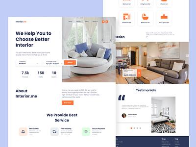 Interior.me - Landing Page design website design website web uidesign ui interiordesign interior