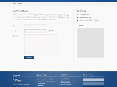 ARWA PSD psd free home business contact ui blog portfolio about freebies template arwa
