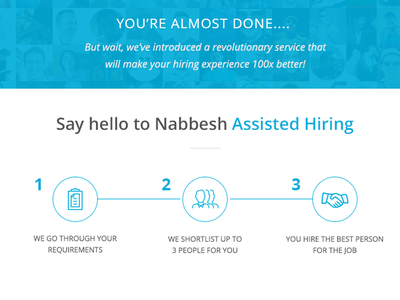Landing Page service feature workplace client icons landing page freelancer hiring