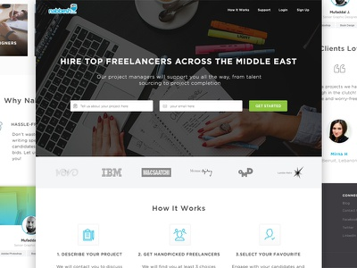 Nabbesh Landing Page home page categories profile hero marketplace client landing page freelancer