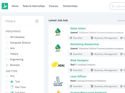 Jobs Page interns recruiting hiring students internships jobs