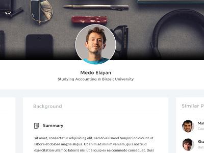 Profile Page ux ui similar profiles single profile profile page student