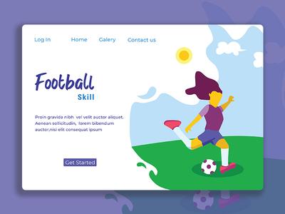 Football Skill Landing Page