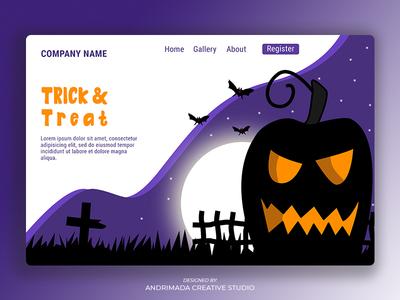 Halloween Landing Page