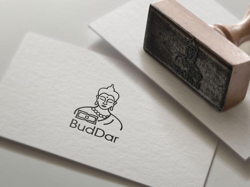 BudDar logo mokap religion asian vectorart logotype design logotypedesign logodesign logo design buddha