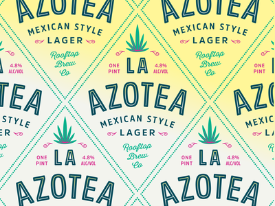 La Azotea Type summer brewery logo packaging label beer classic design typography type