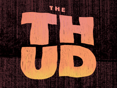 The Thud for Fantagraphics Books jacket cover book procreate logo headline typogaphy design pulp lettering title