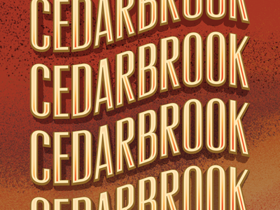 Cedarbrook IPA for Rooftop Brew Co lodge pnw seattle brewery beer title cover sunset classic typography type design