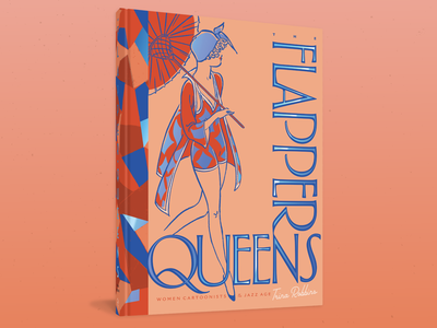 The Flapper Queens for Fantagraphics Books fashion artwork typography type graphic print 20s vintage deco feminine art comic comics publishing stamp foil jacket cover book