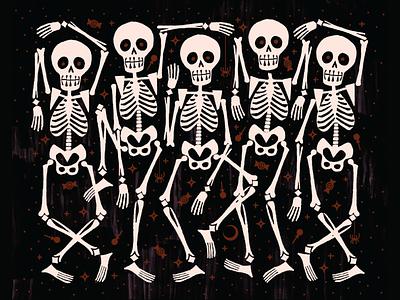 Trick or Treat Yo'Self Pumpkin Pale Ale halloween skeleton pumpkin beer label procreate branding seattle print graphic design illustration