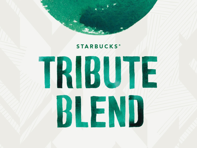 Starbucks Tribute Blend - Asia Pacific coffee packaging design watercolor lettering