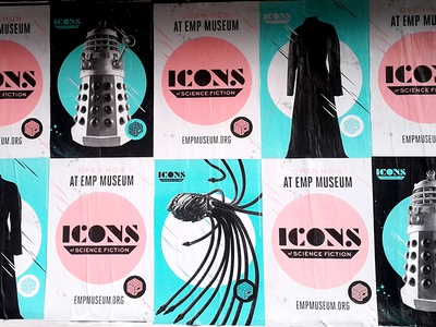 Icons of Science Fiction flyposting