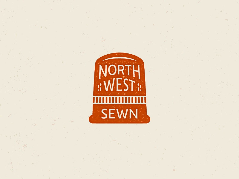 Northwest Sewn 01 logomark craft sewn seattle thimble design graphic badge mark identity branding brand logo
