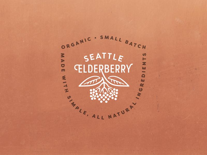 Elderberry Shield medicinal design logodesign branding brand badge shield logo