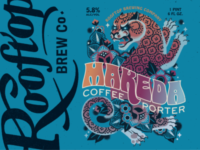 Makeda Coffee Porter label for Rooftop