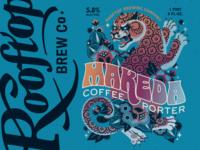 Makeda Coffee Porter label for Rooftop