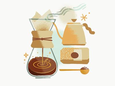 Coffee Coffee Coffee for Starbucks cafe starbucks artisan pourover warm human hand brew coffee graphics illustration design