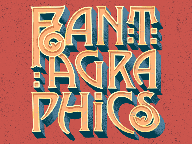 FANTAGRAPHICS! comics typedesign book extruded 3d retro nouveau procreate illustrator illustration art typography type lettering