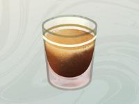 The Perfect Shot of Espresso starbucks drink warm swirls realistic coffee cup coffee art procreate illustration espresso